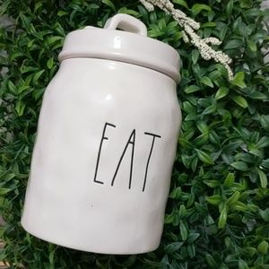 Rae Dunn Baby Canister EAT with Dimples